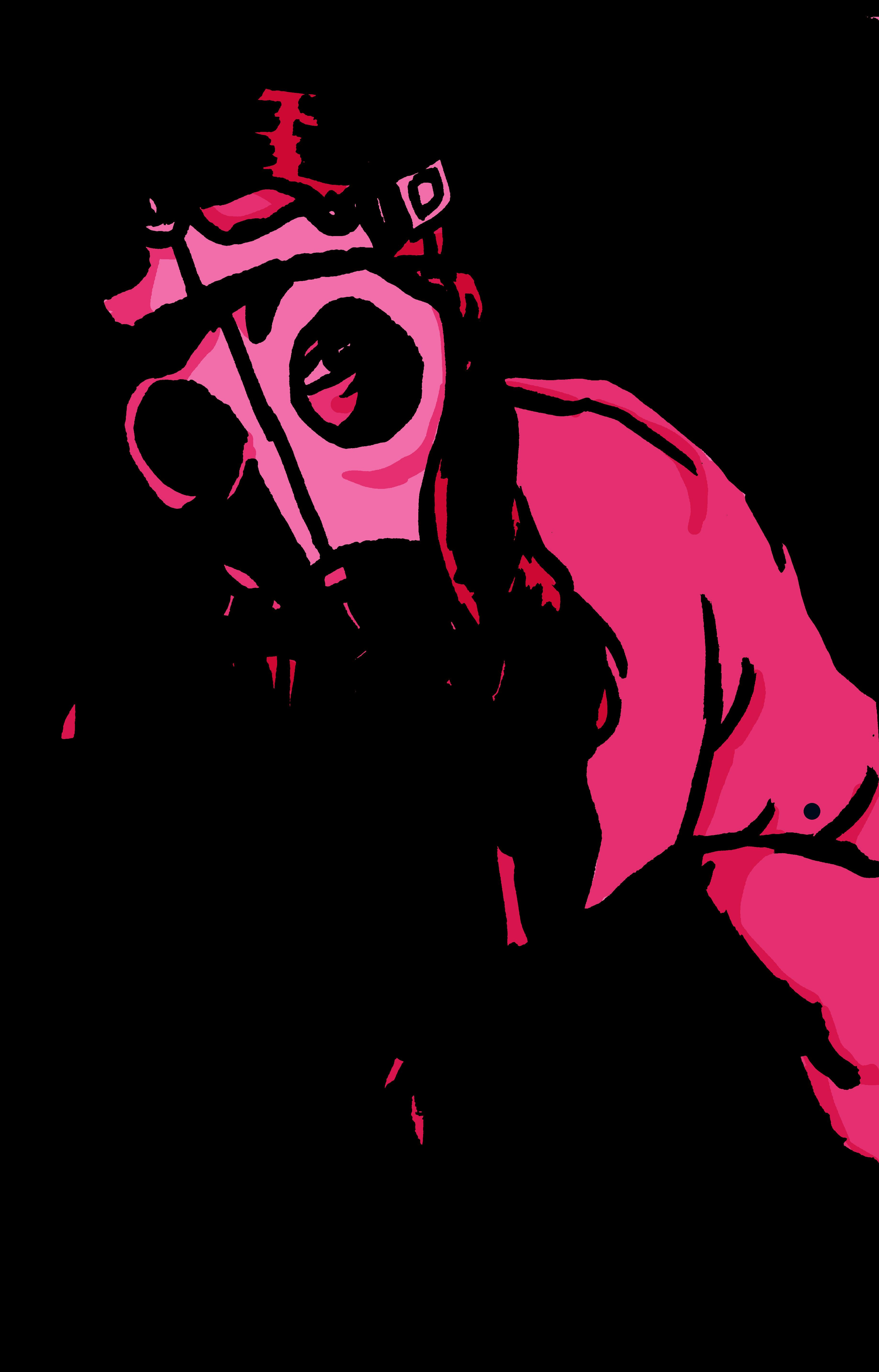 Gas mask girl: pink version