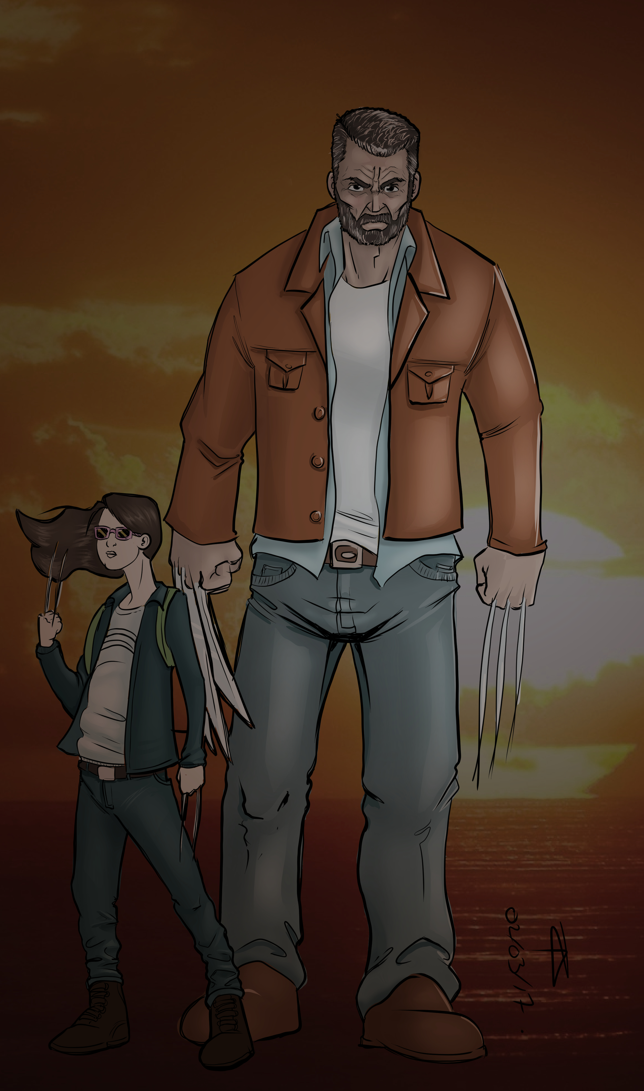 logan and laura - color