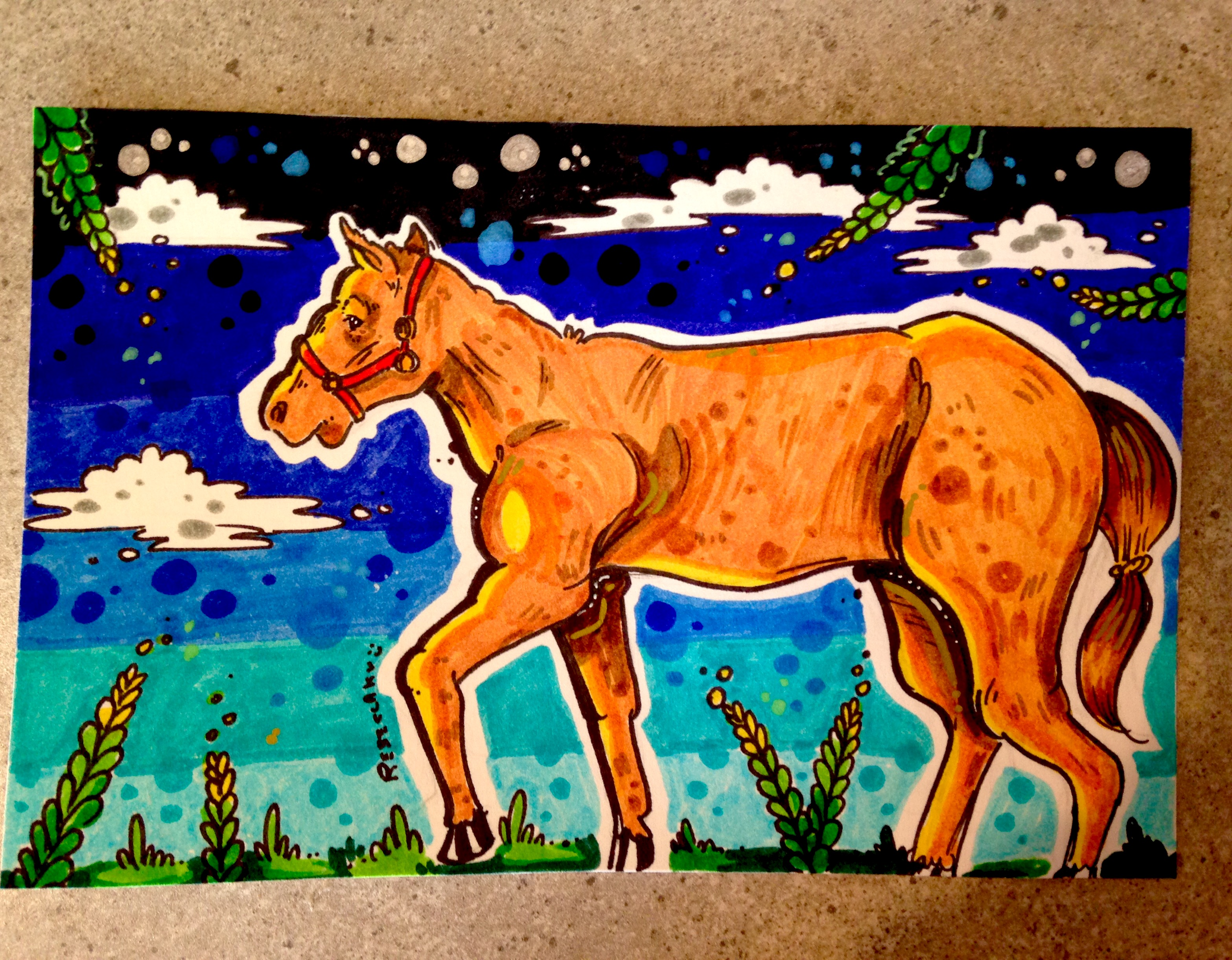 Simple Marker Horse