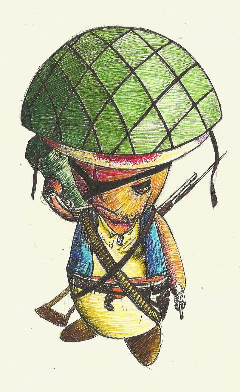 War-torn Toad