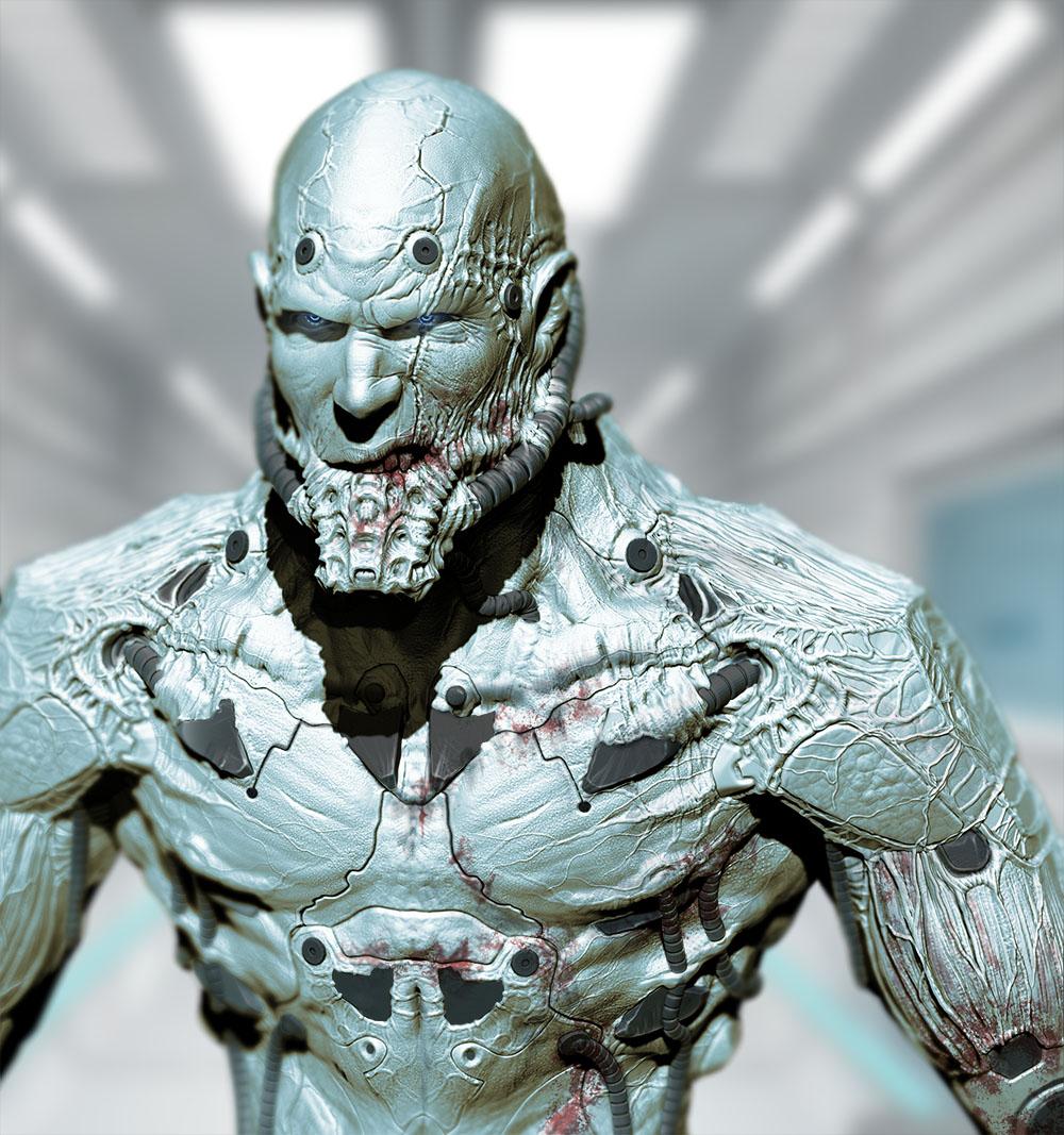 Cyborg Bust