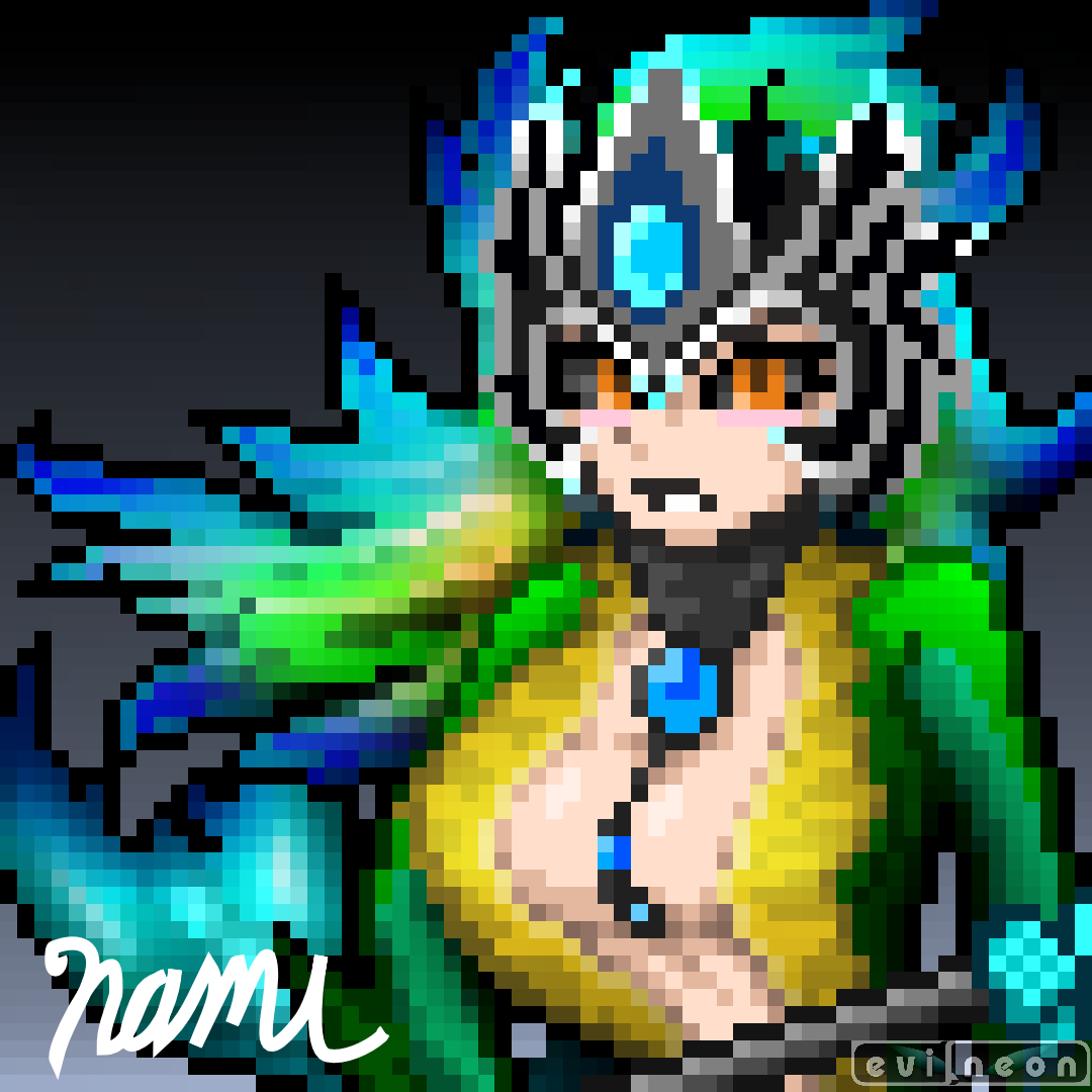 Nami - League of Legends Pixel Art!