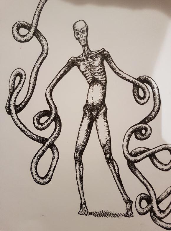 dream man pen sketch 2