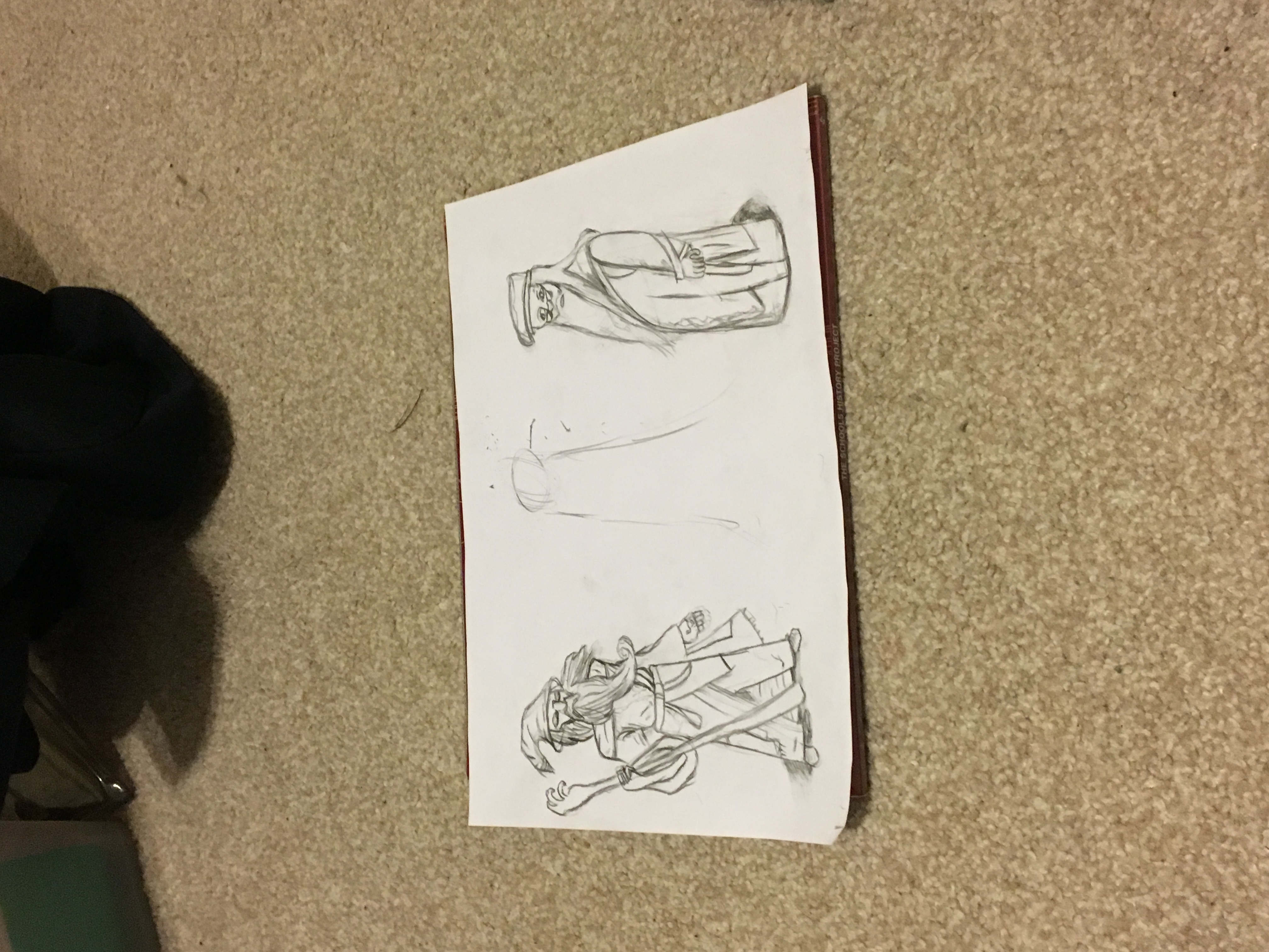 My mid way sketch Gandalf and dumbledore