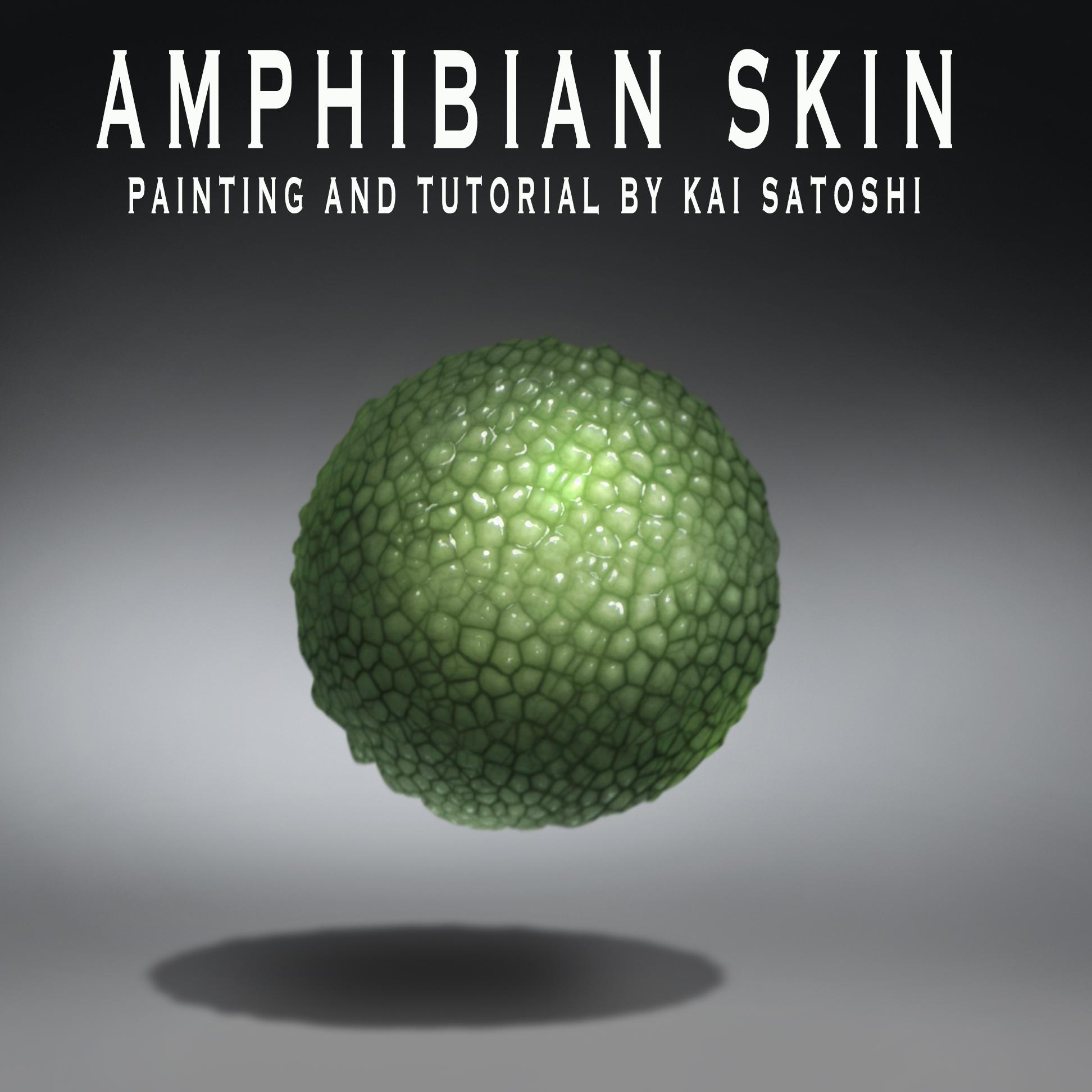 Amphibian Skin - Tutorial on my YOUTUBE channel!