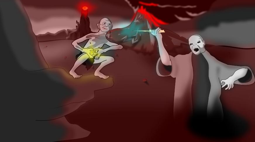 Voldemort VS Gollum