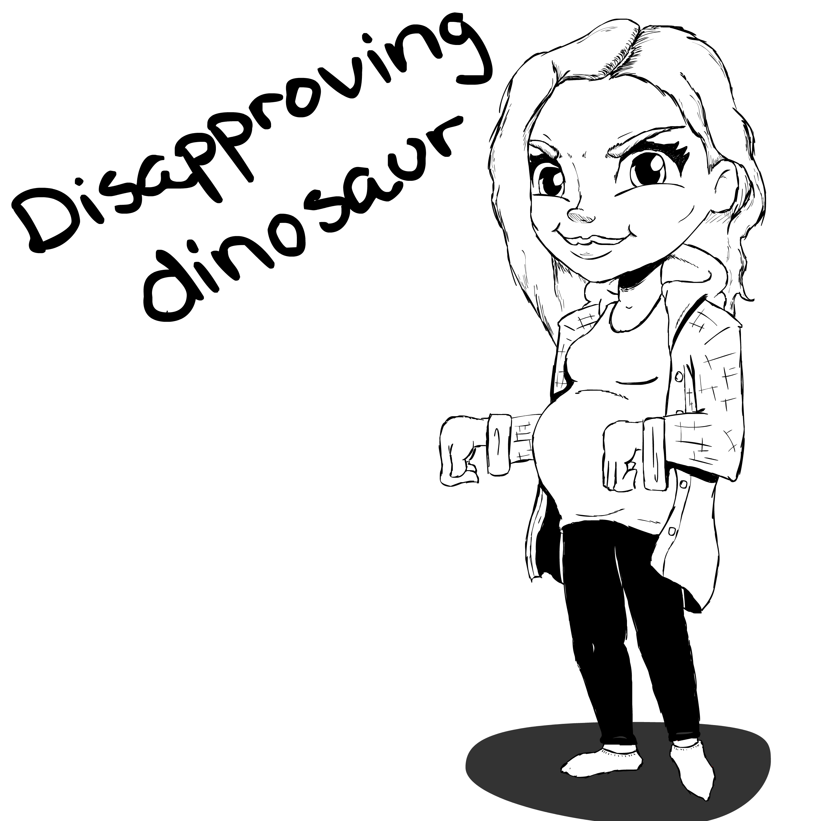 Disapproving Dinosaur