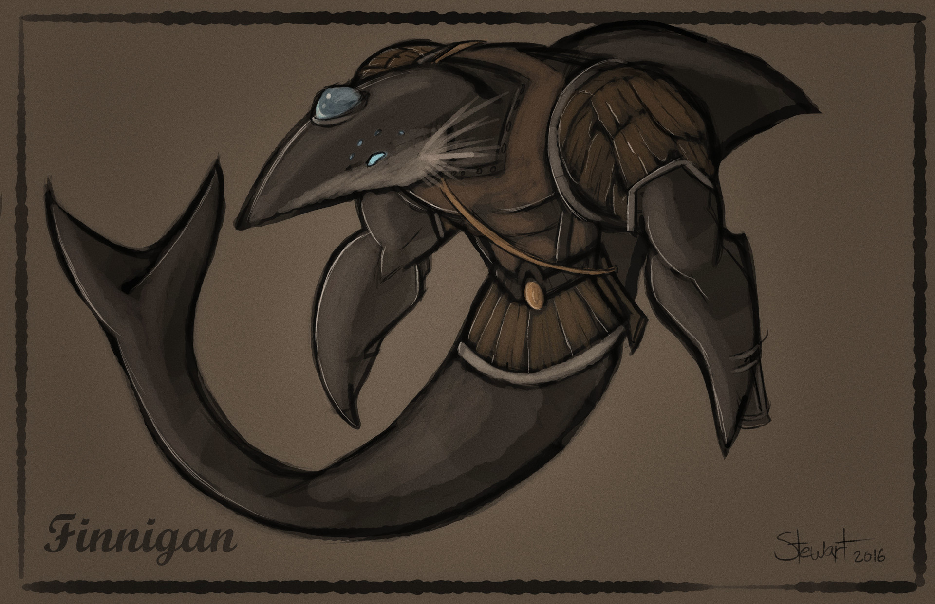 Finnigan the Warrior Shark