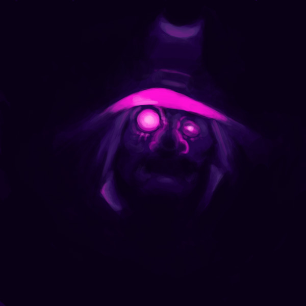 A witch in the dark