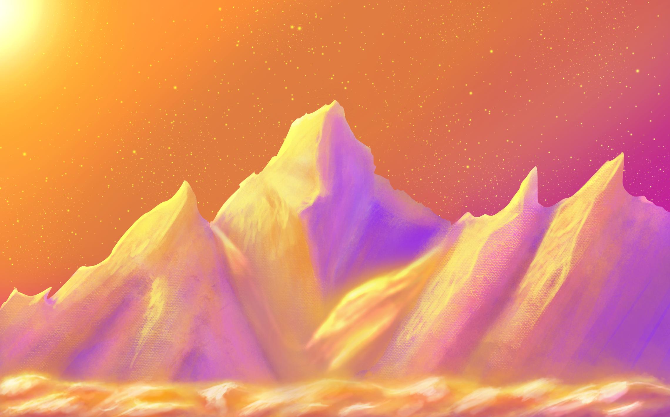 Retro mountains