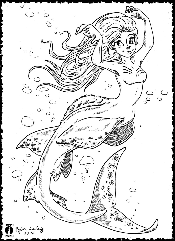 Guitarfish Mermaid