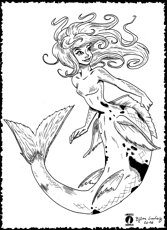 Koi Carp Mermaid