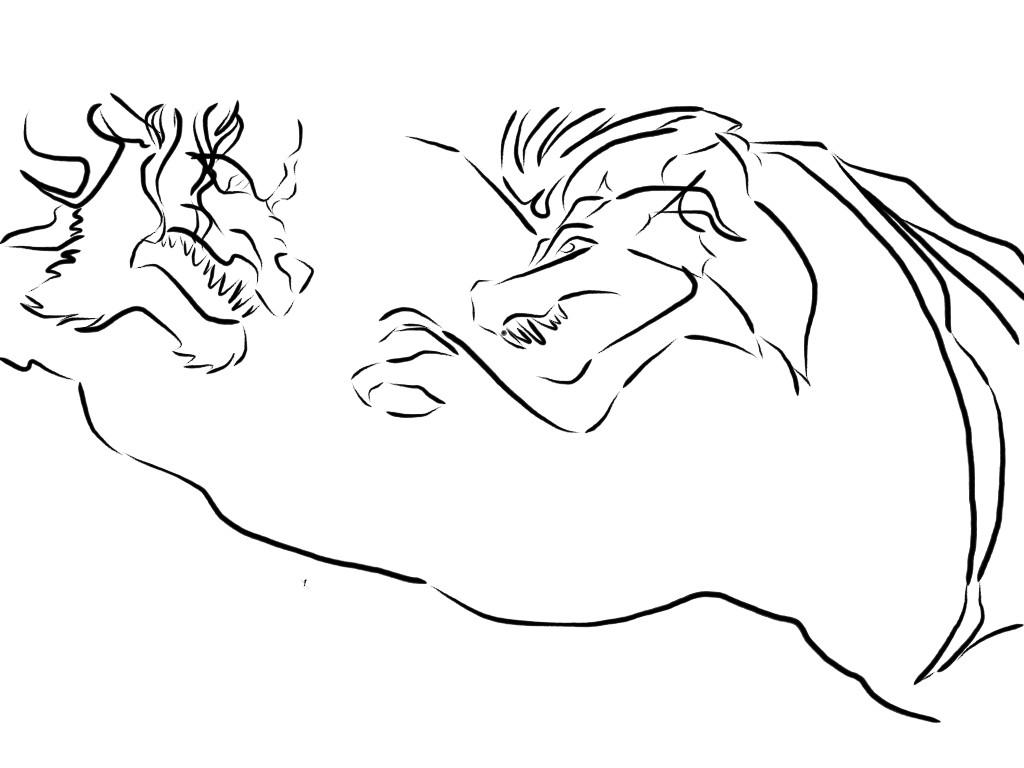 Good VS Evil Fight Sketch (Girls) - 4