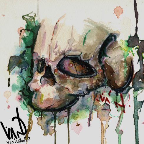 Aquarelle skull
