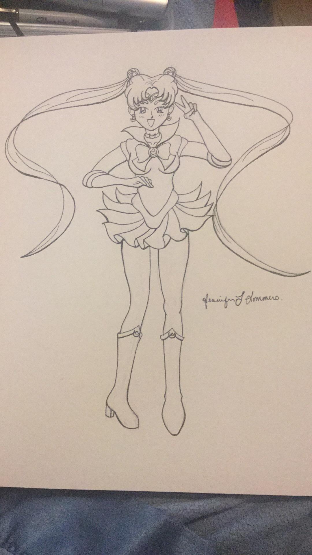 Sailor Moon line work