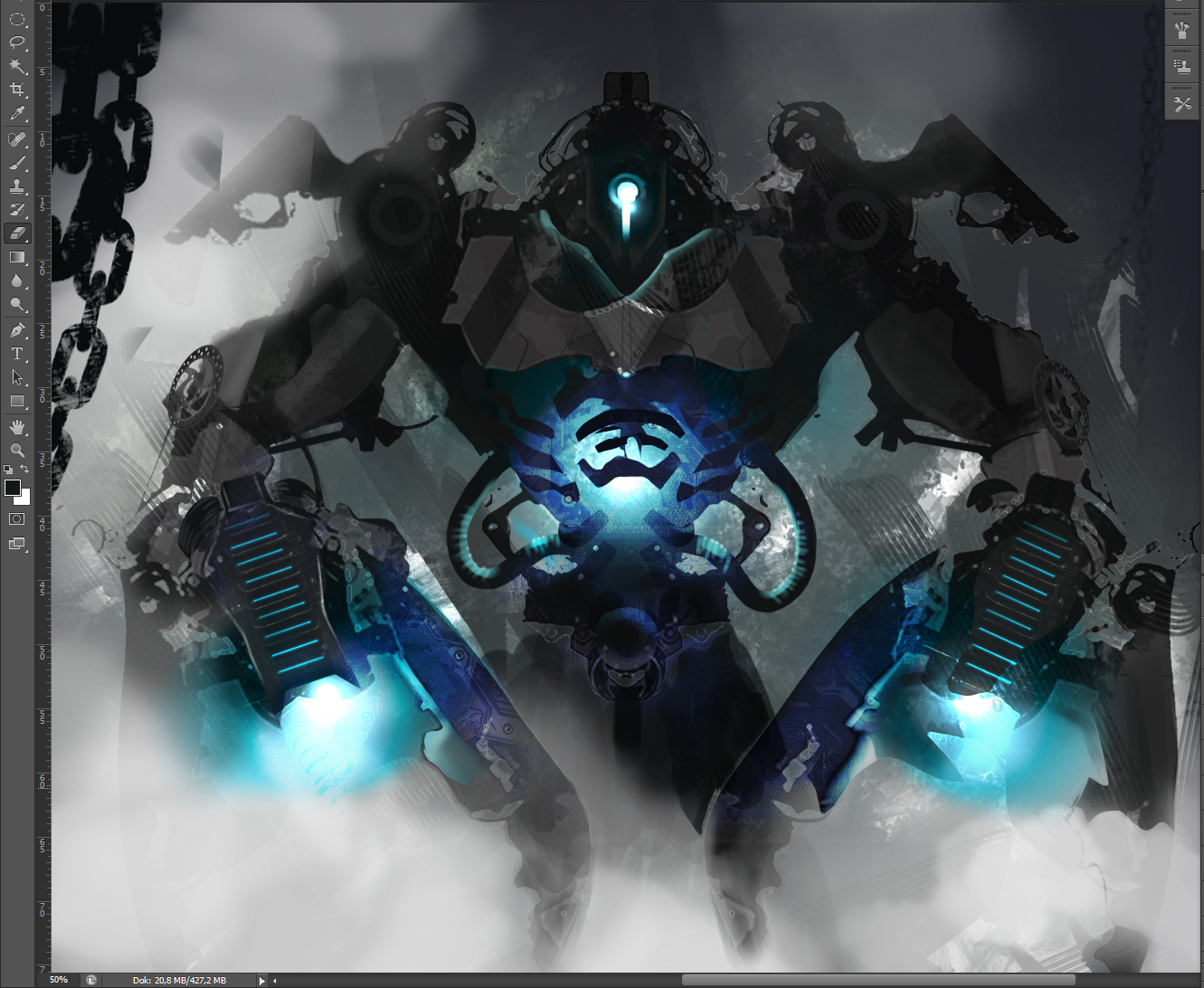 Mecha concept design made in alchemy and photoshop
