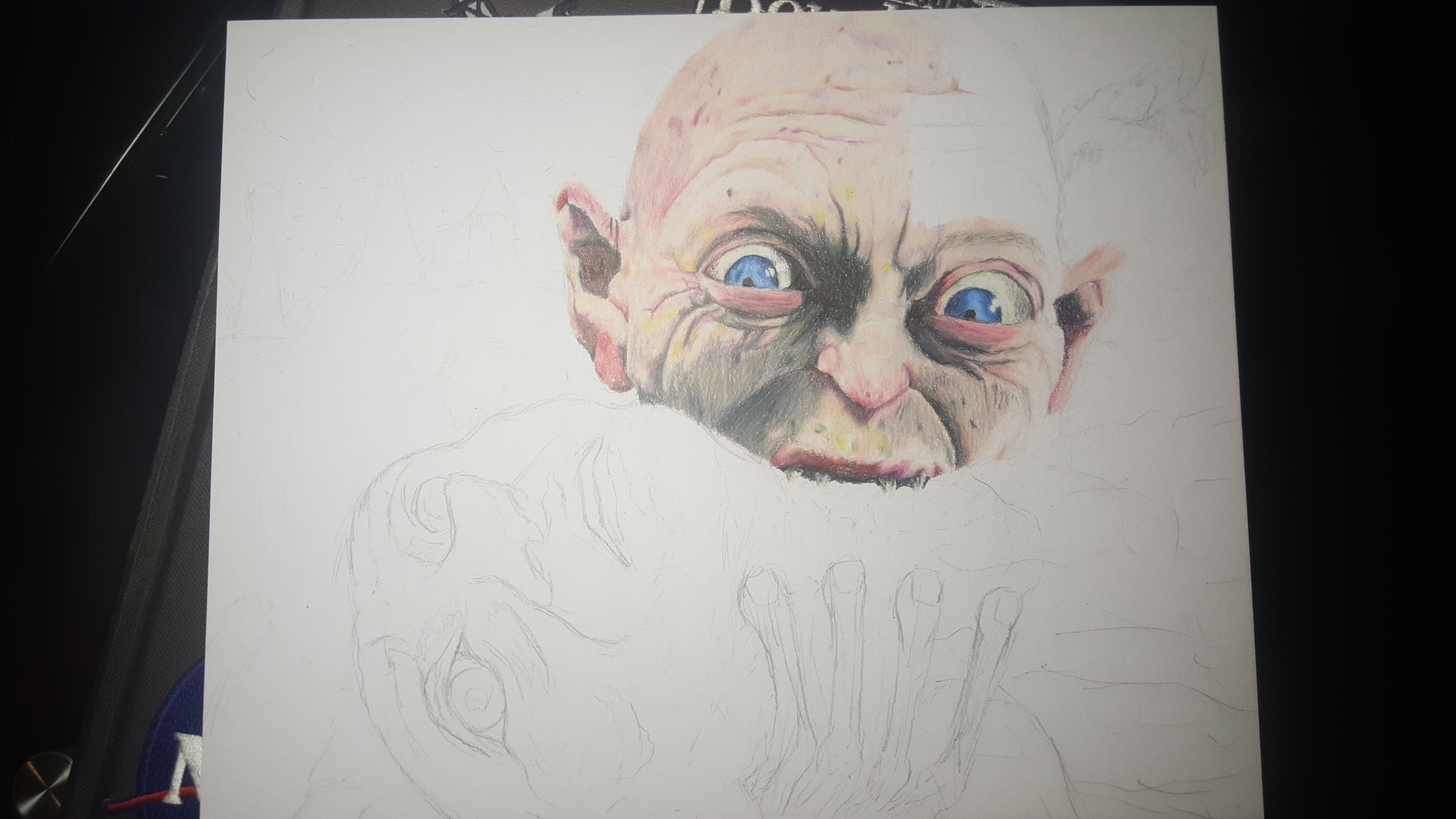 gollum not yet finished