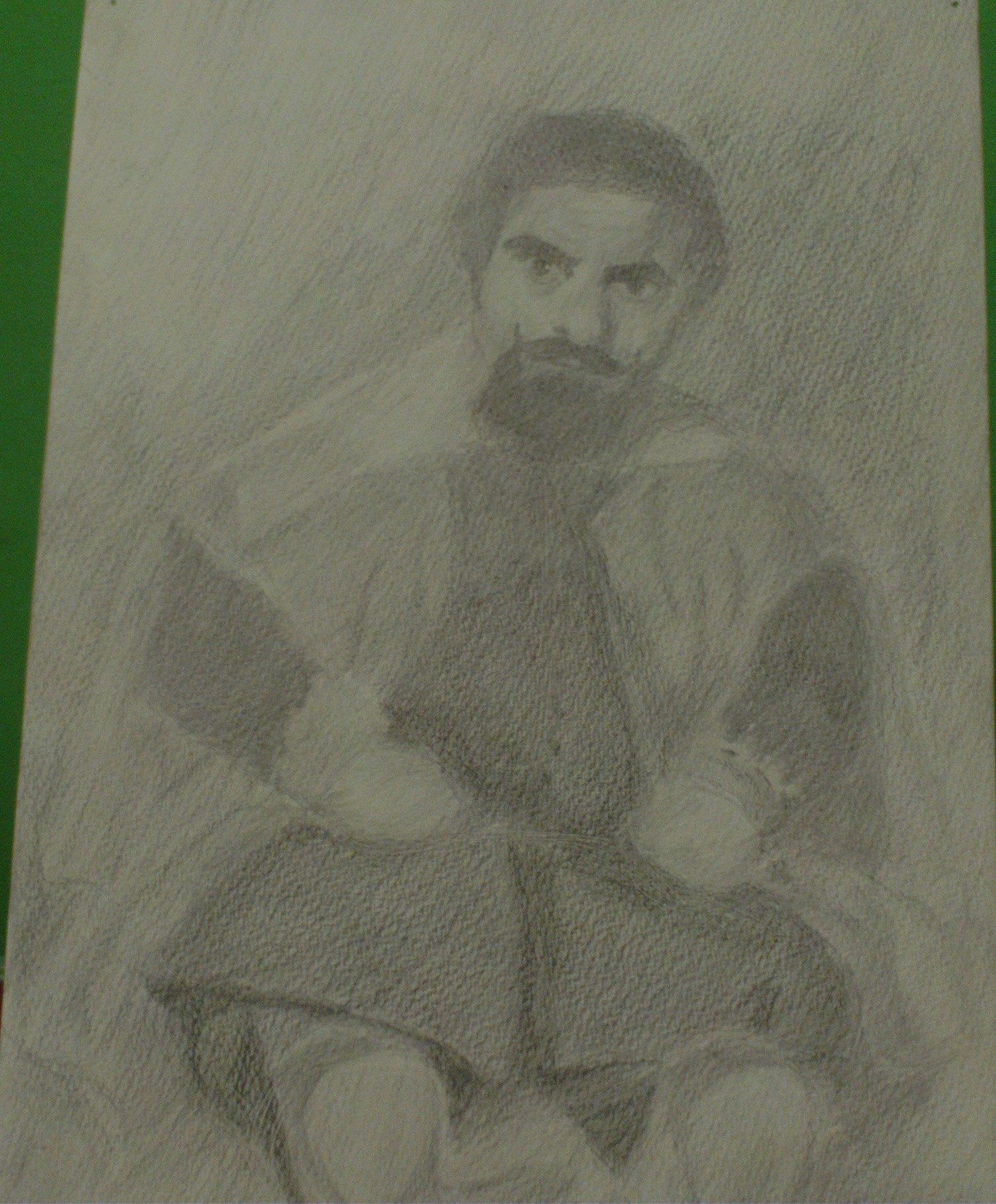 painting from velazquez in pencil