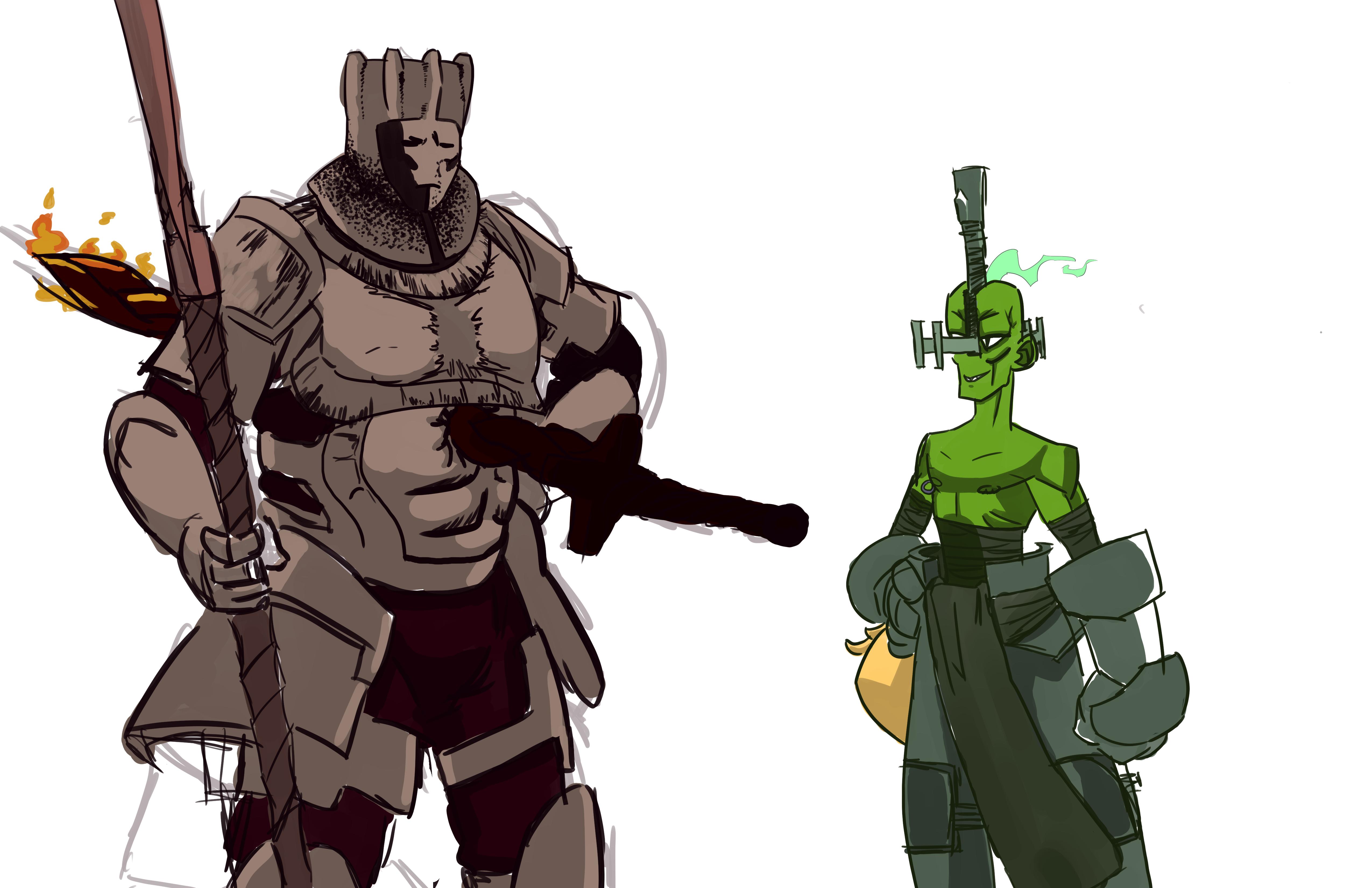 The Ghostly swordsmen