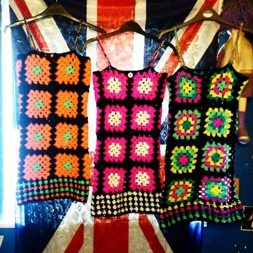 Crochet Mary quant Dresses