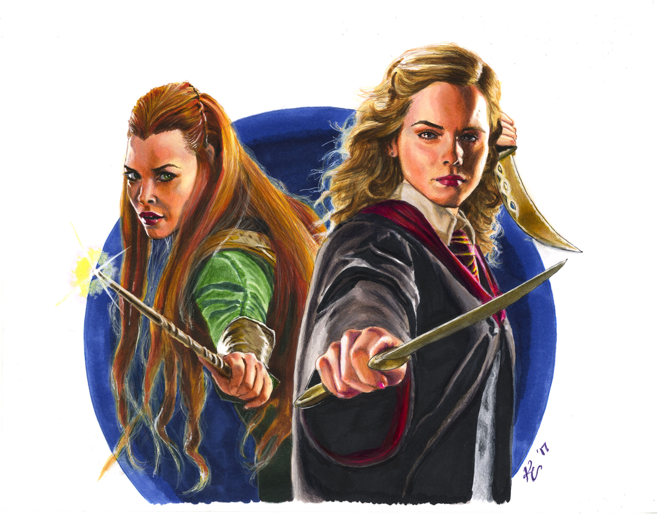 Tauriel and Hermione, friends