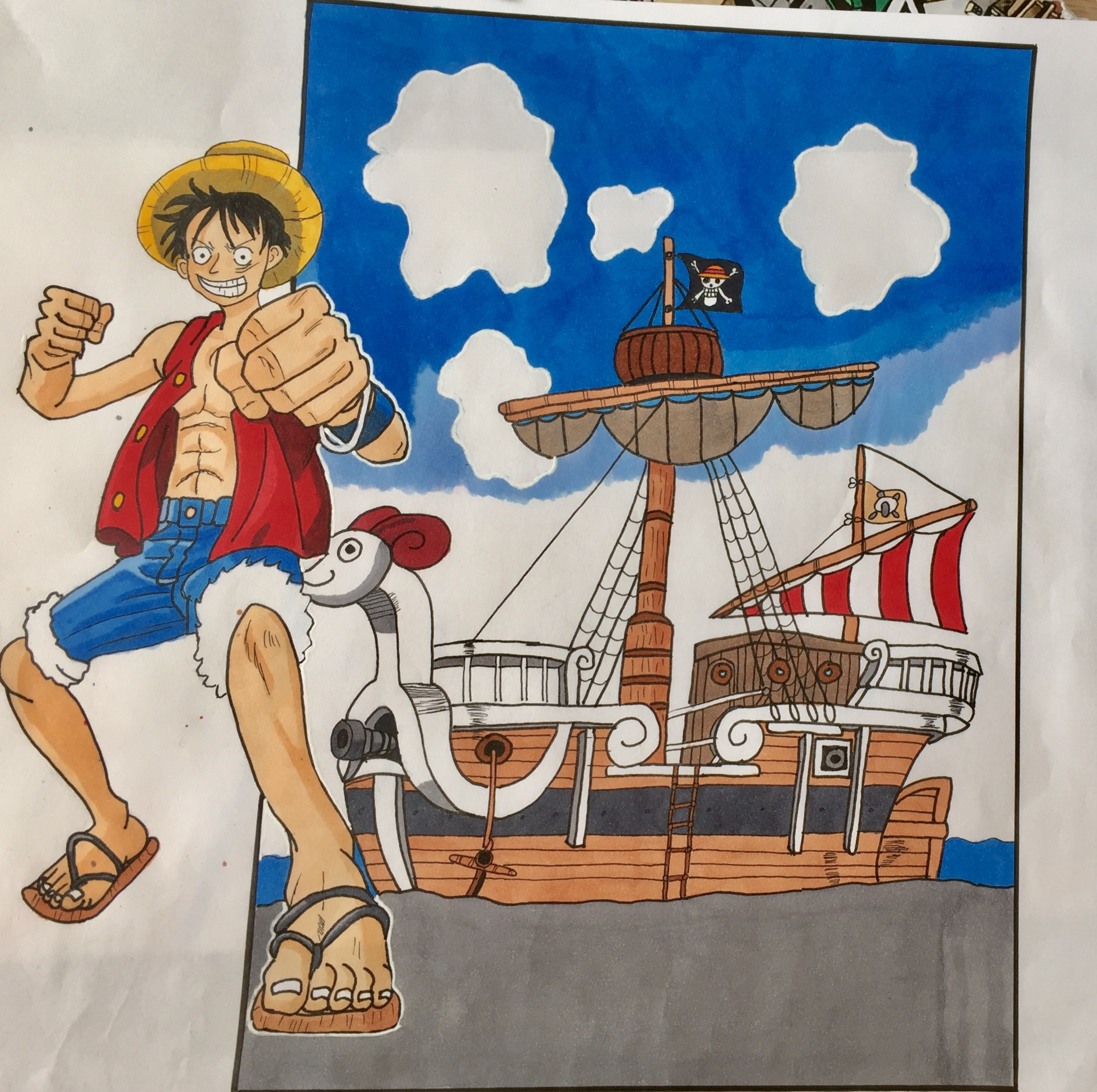 """Luffy and the """"Going Merry"""""""
