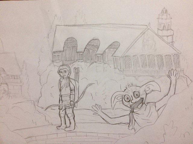 Dobby's Visit to Rivendell Sketch