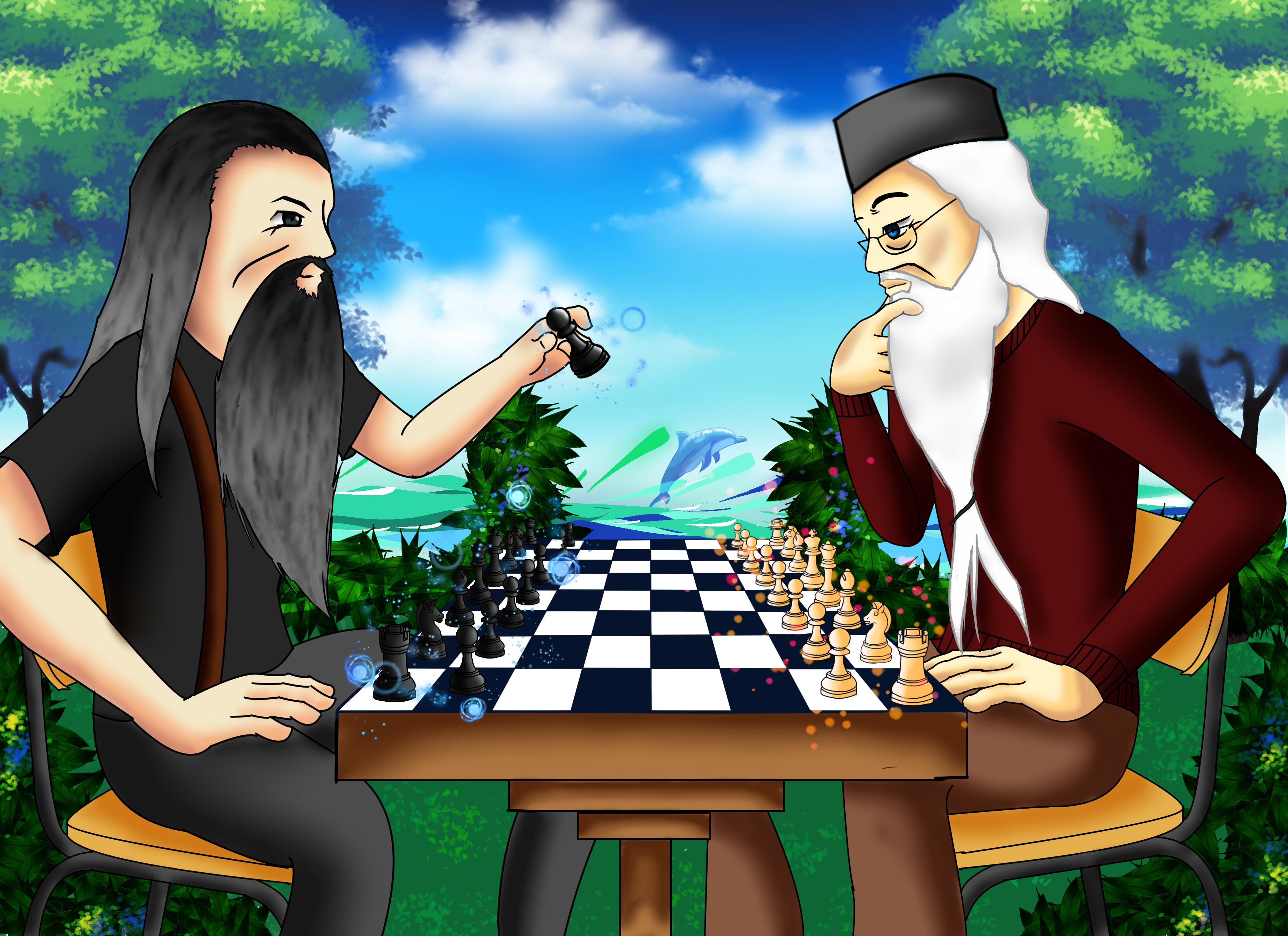 Magic Chess Gandalf vs Dumbledore