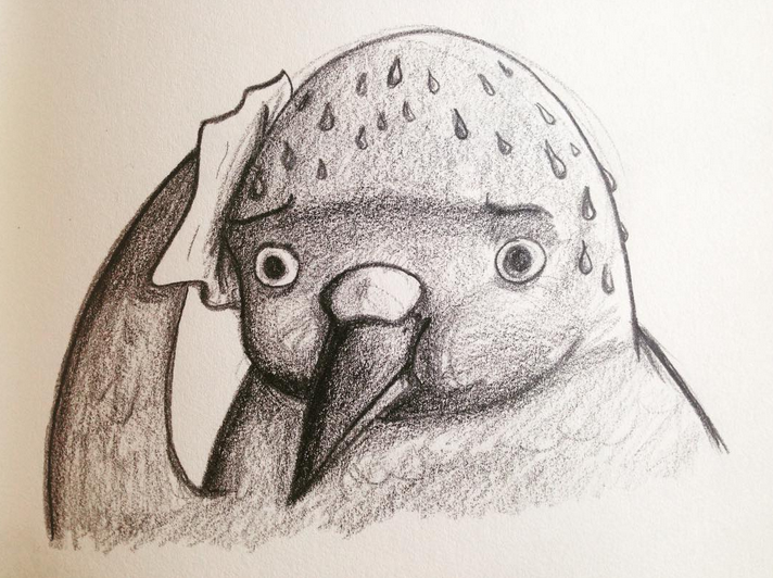 Worried Bird is Worried
