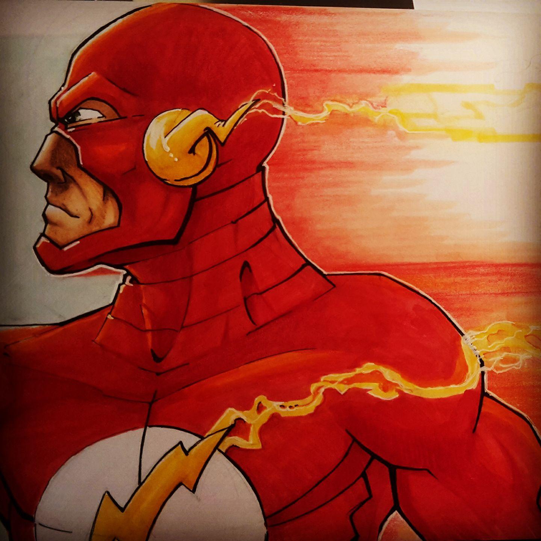 The flash fanart illustration