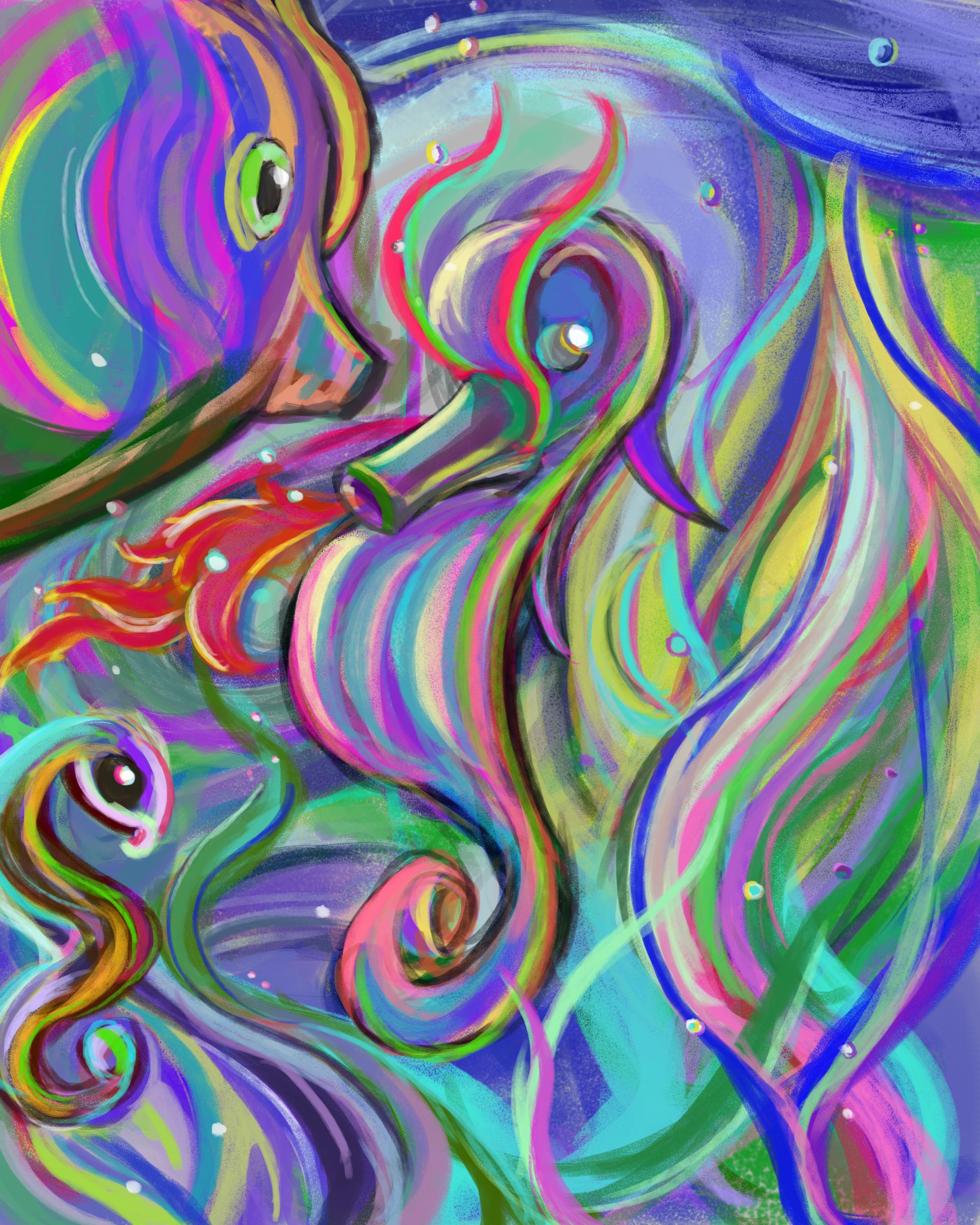 Abstract seahorse?