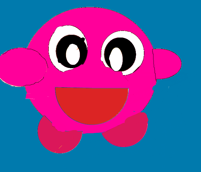 Cartoonish Kirby