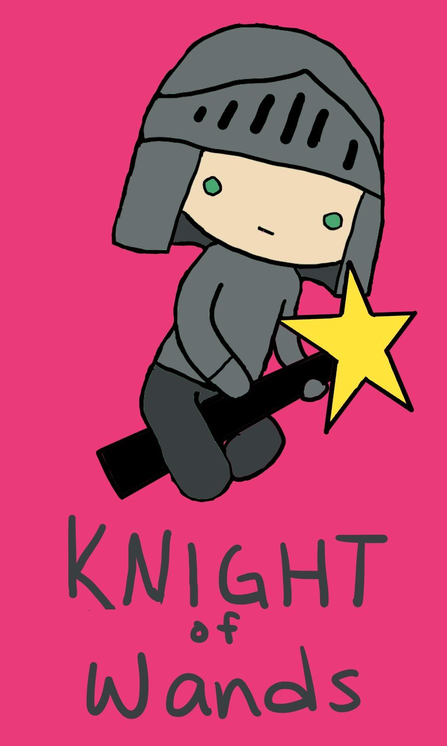 Tarot Knight of Wands Card