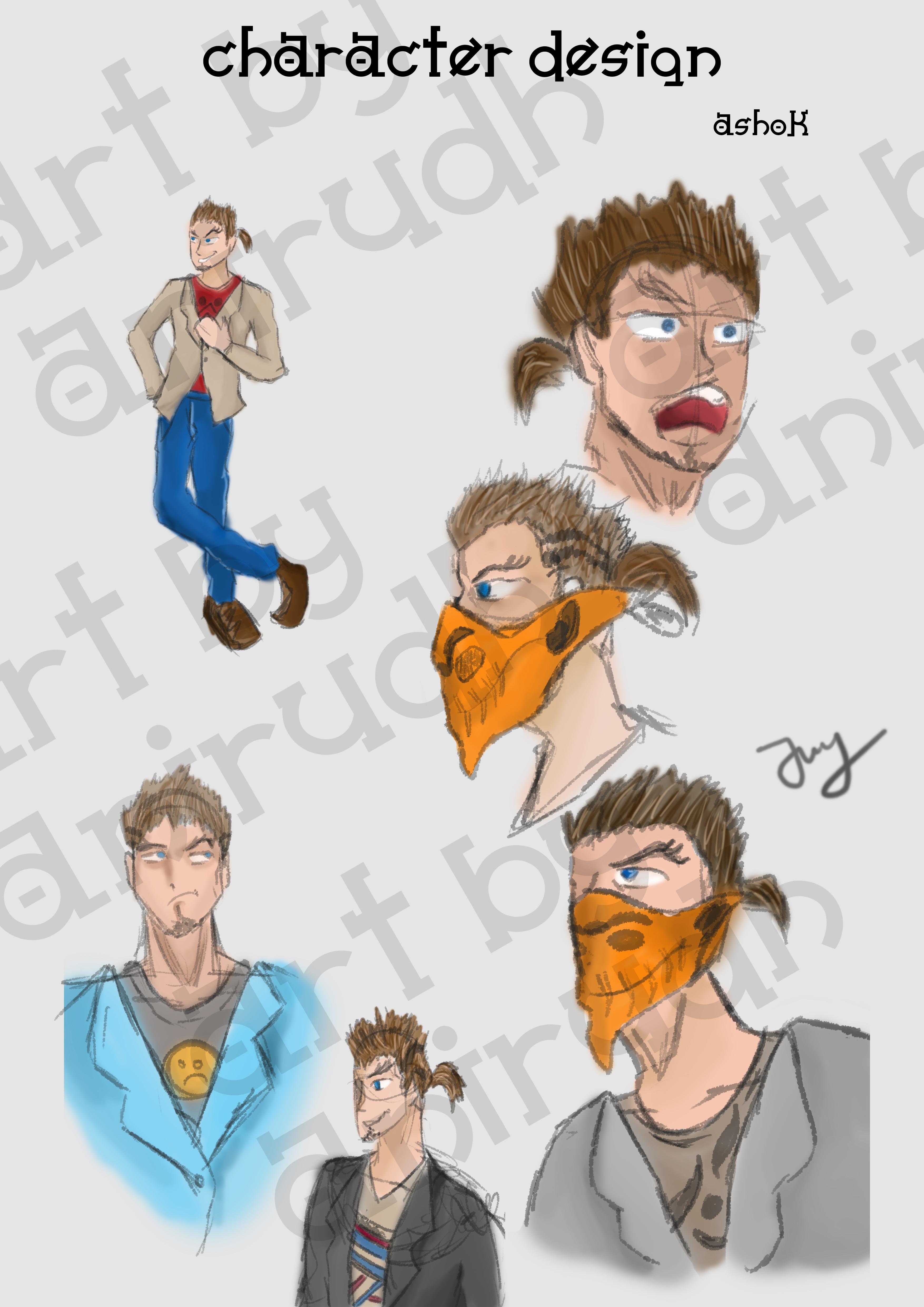 Ashok Character Design