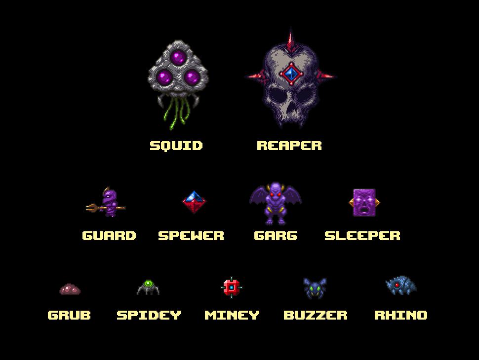 XENOCAVE Various Enemies