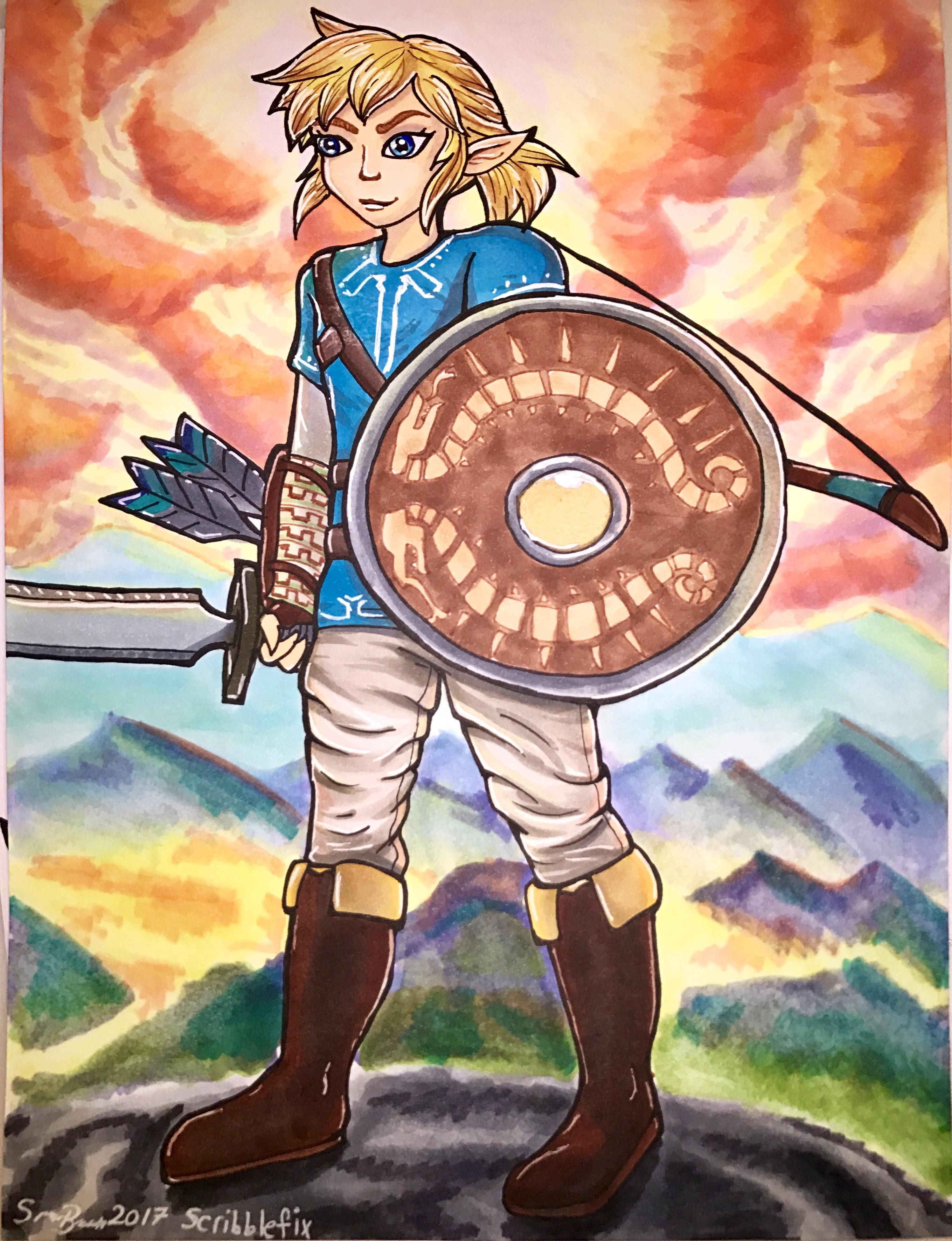 Link - Zelda BOTW copic illustration