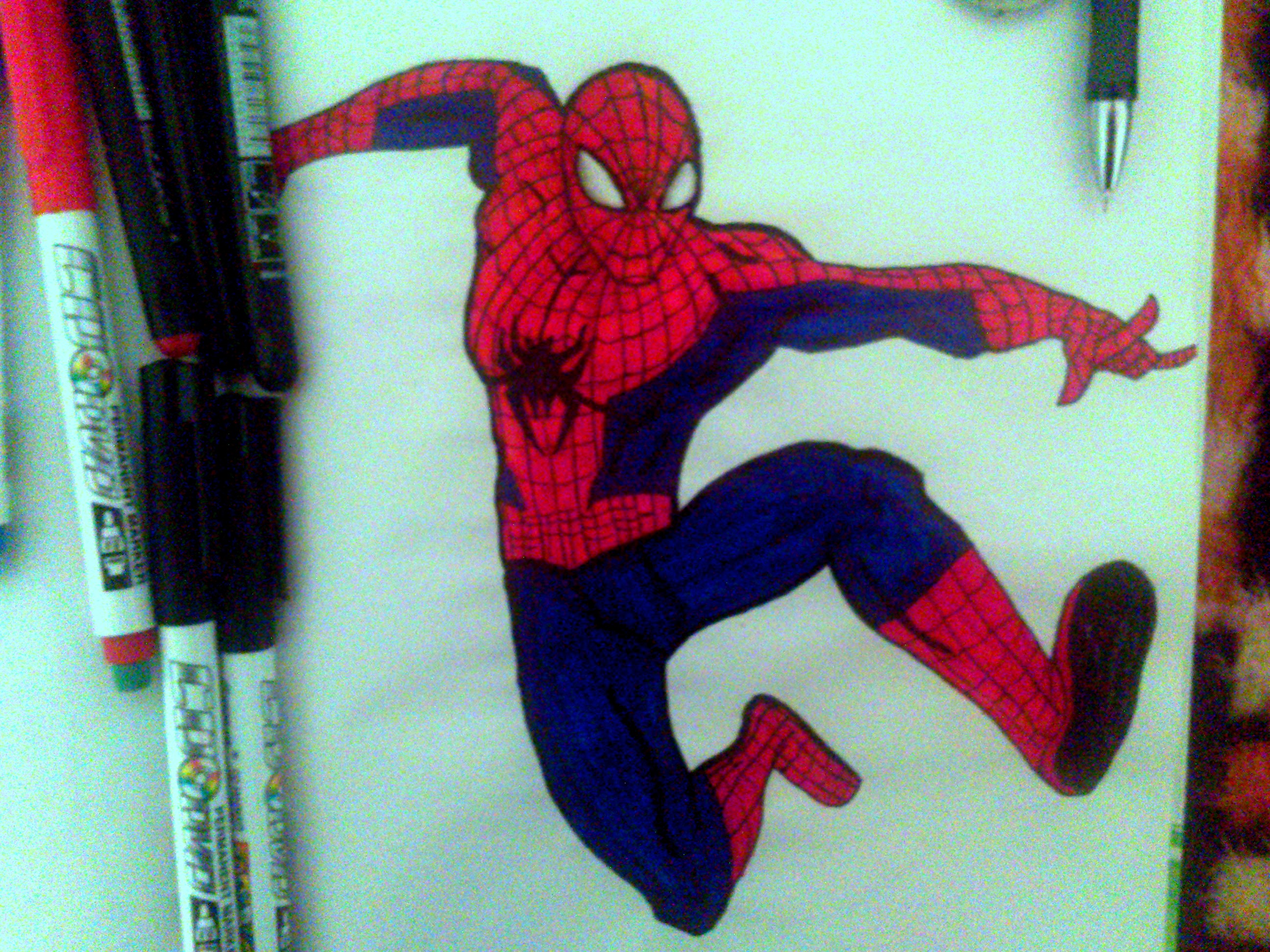 Spiderman,the usual