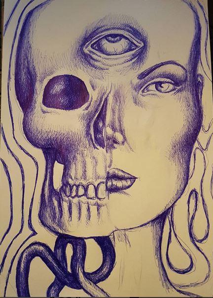 brain vomit pen doodle