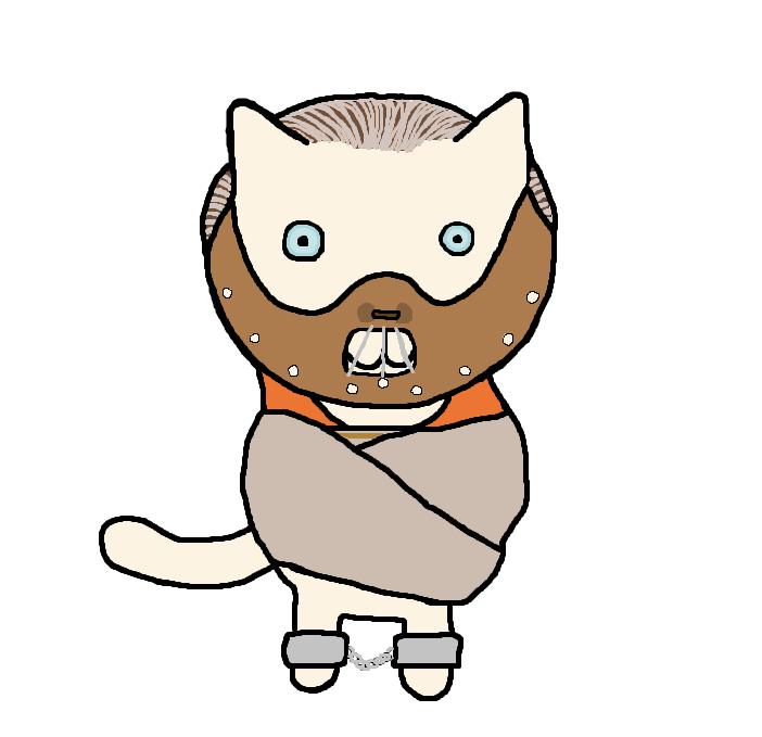 Hannibal lecter cat