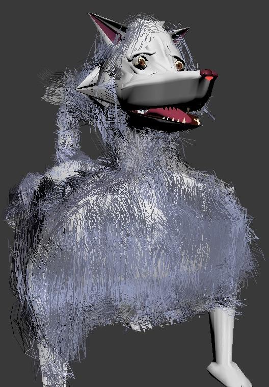 Hairy Huskie - 3d model