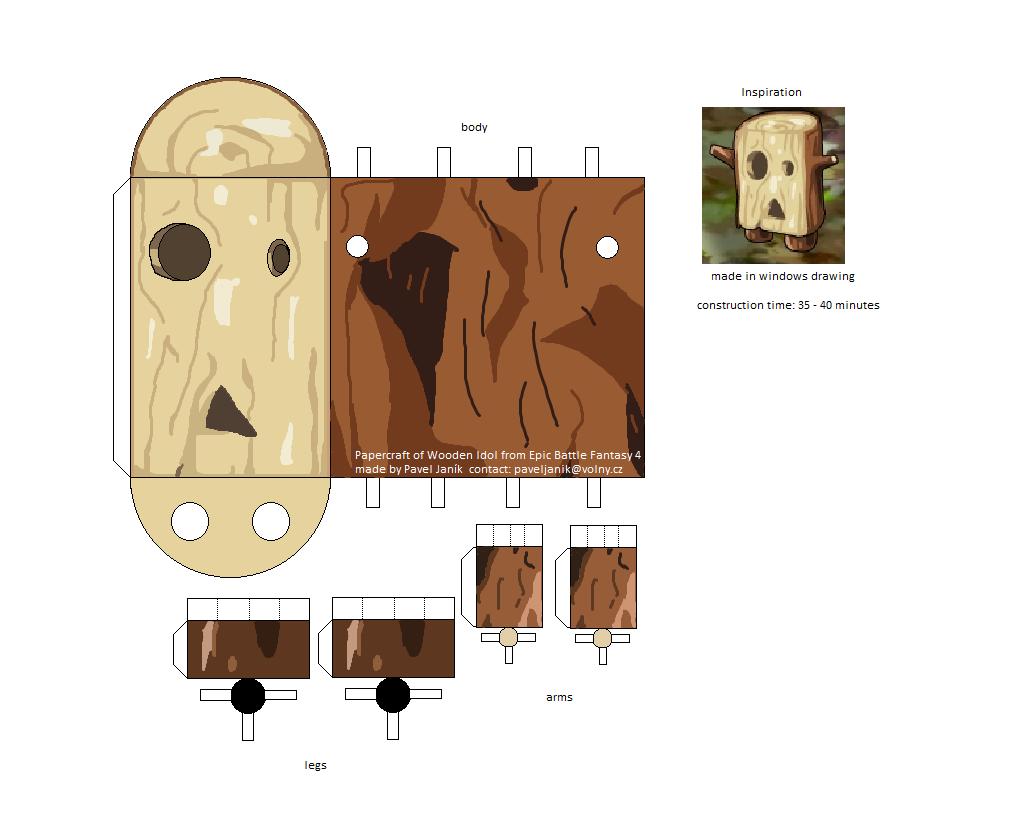 Epic Battle Fantasy papercraft Wooden Idol