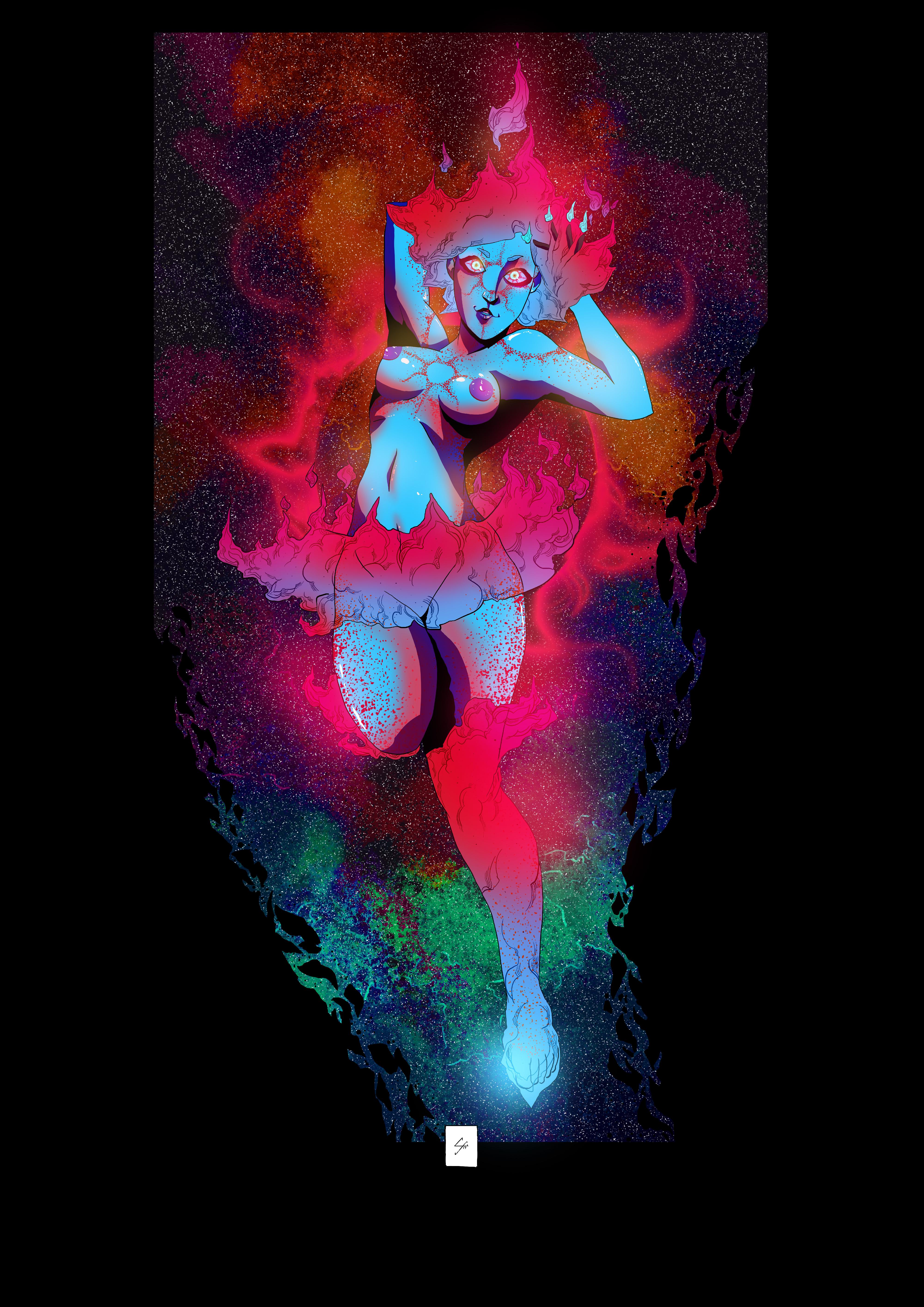 Sun Goddess II - Blue Variant