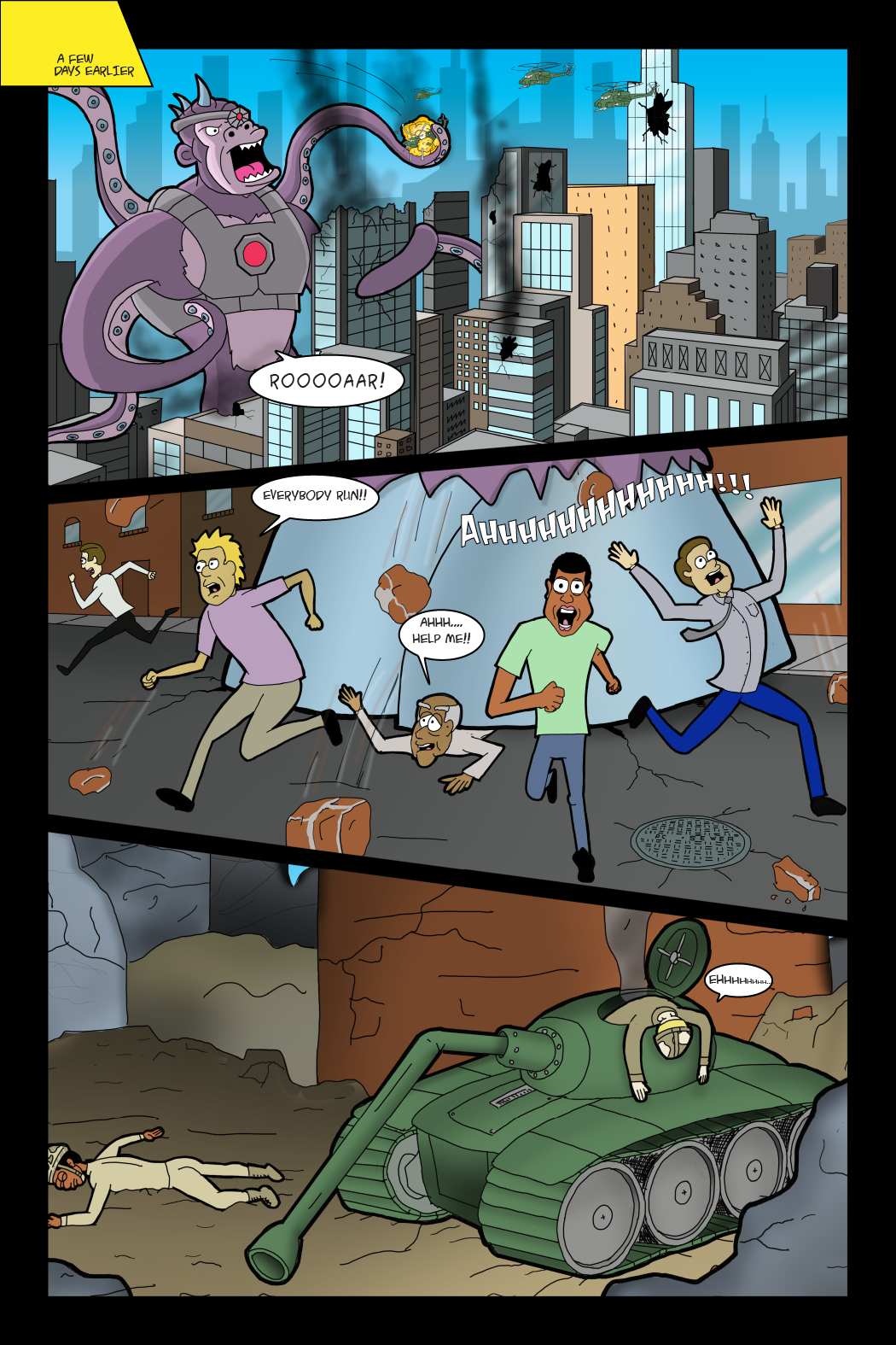 Adventures with Capt'n Heroic, Chapter 1, Page 3