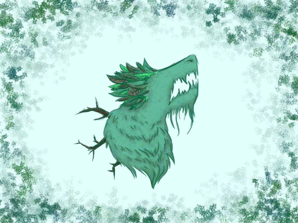 Forest Dragon Bust