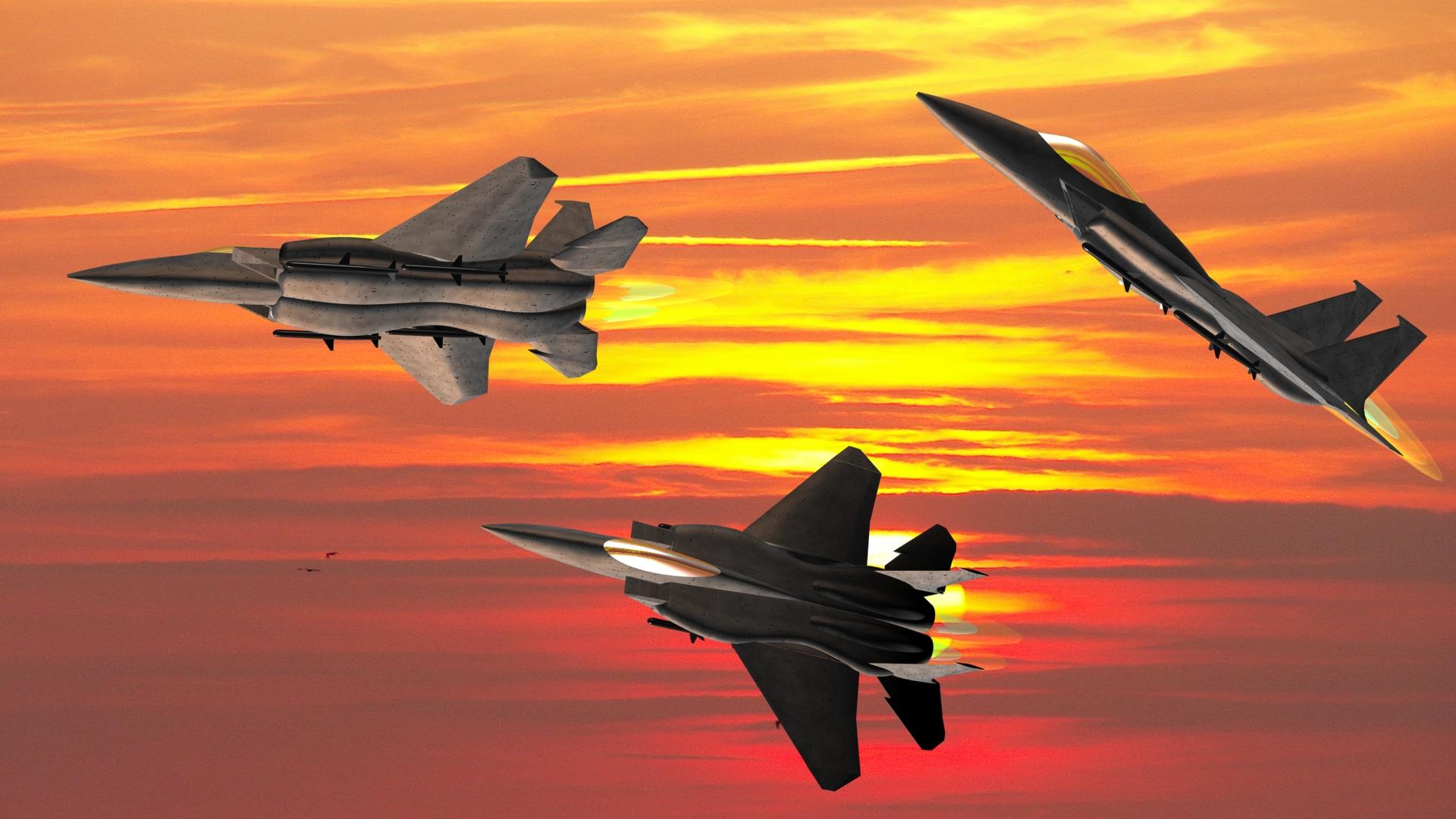F15a sunset