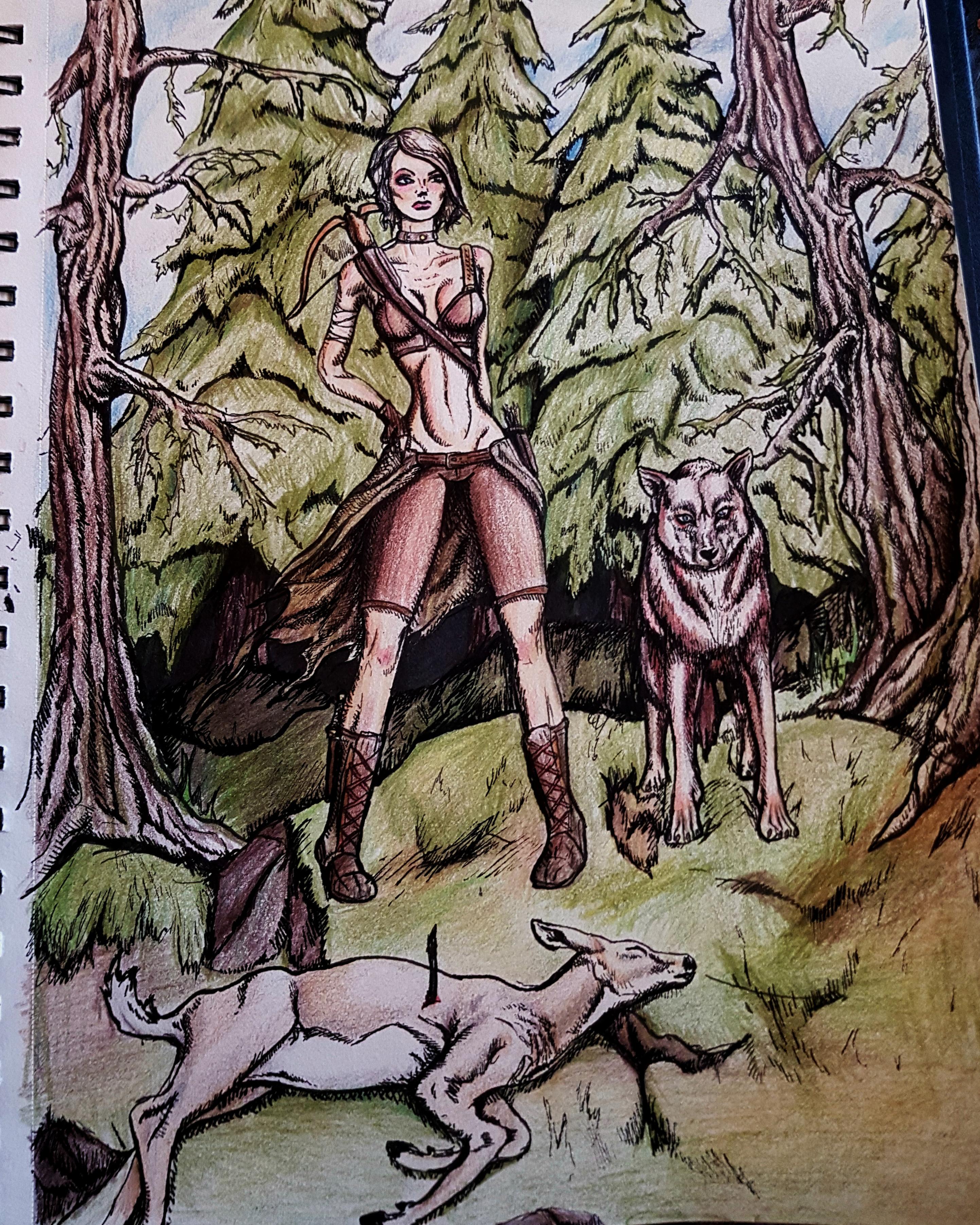 hunter n wolfy wolf