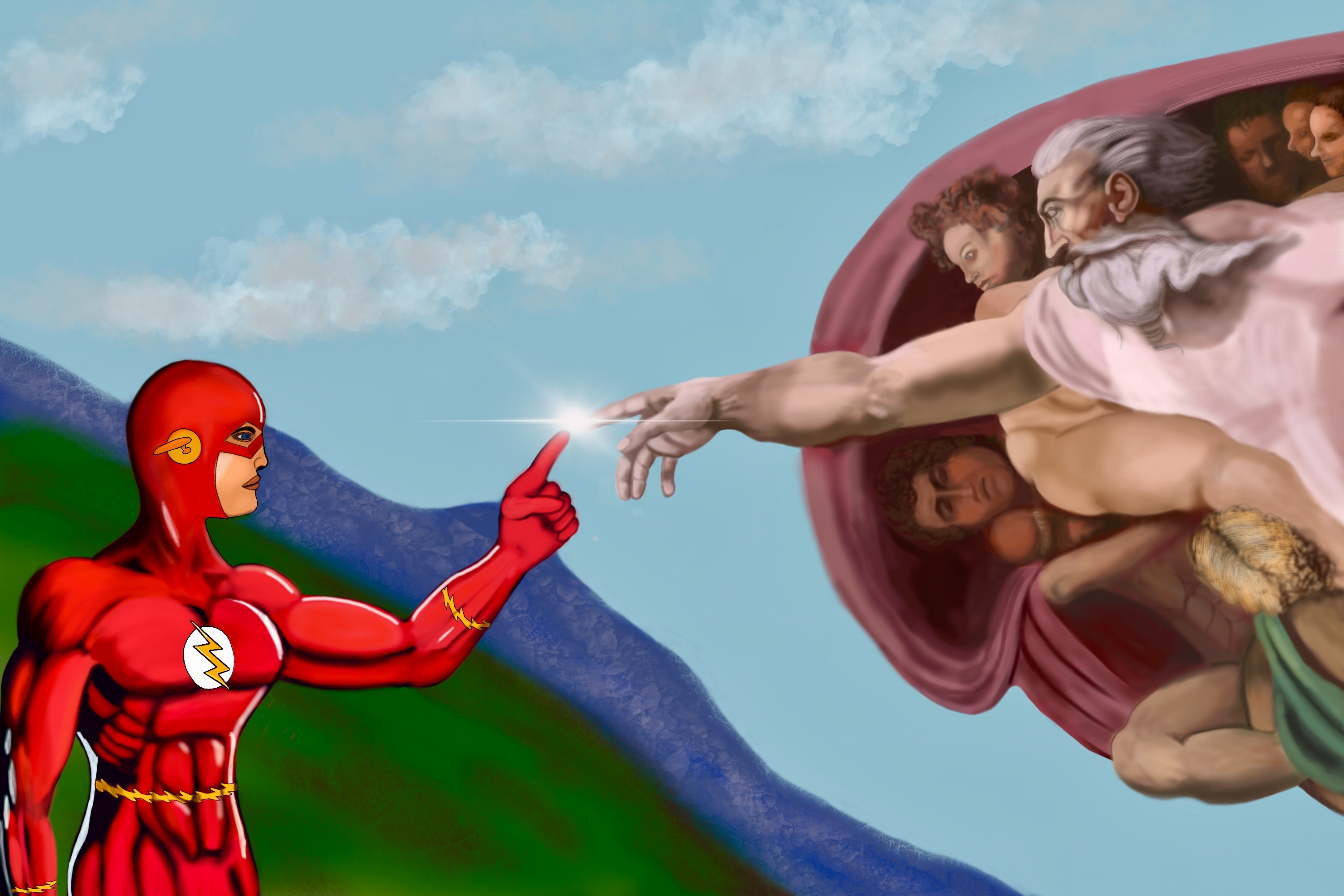 The creation of the Flash