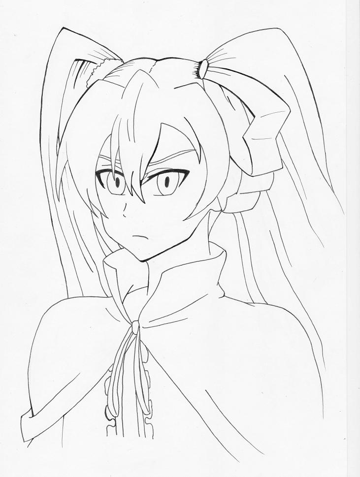 Akame ga Kill - Mine Line Art