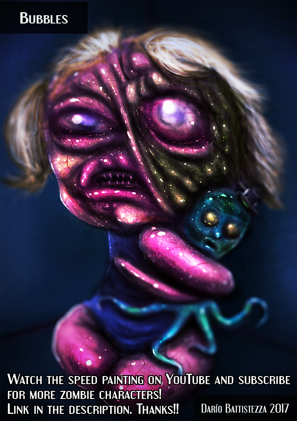 Bubbles from PowerPuff Girls - ZOMBIE EDITION !!