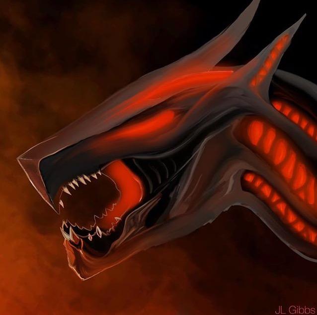 Laser dragon thing
